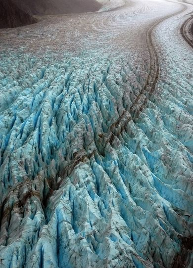 Ice sheets.  Glacier fact: Most of the world's glaciers are located in the world's polar regions.