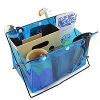 Opvouwbare Tafel Bureau Organizer PVC Comsmetics Briefpapier Opslag Diversen Rack Houder Draagbare Waterdichte Opbergzakken 3 Kleuren