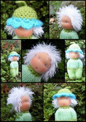 From Grietjekarwietje: Zoekresultaten voor simpel popje breien. English instructions for the knitted body also available