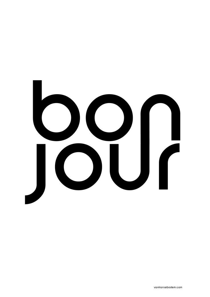 bonjour poster van franse bodem