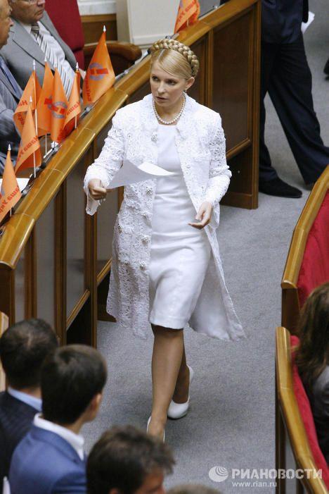 July, 2006. Yulia Tymoshenko Bloc (BYuT) leader Yulia Tymoshenko at a session of Ukraine's Supreme Rada.