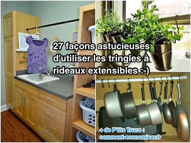 Vous l'aurez compris, ces tringles ne servent pas qu'à poser un rideau dans la chambre ou la douche ! Nous avons sélectionné pour vous les 27 meilleures utilisations des tringles à rideaux extensibles.  Découvrez l'astuce ici : http://www.comment-economiser.fr/27-utilisations-des-tringles-a-rideaux-extensibles.html?utm_content=buffer294a5&utm_medium=social&utm_source=pinterest.com&utm_campaign=buffer