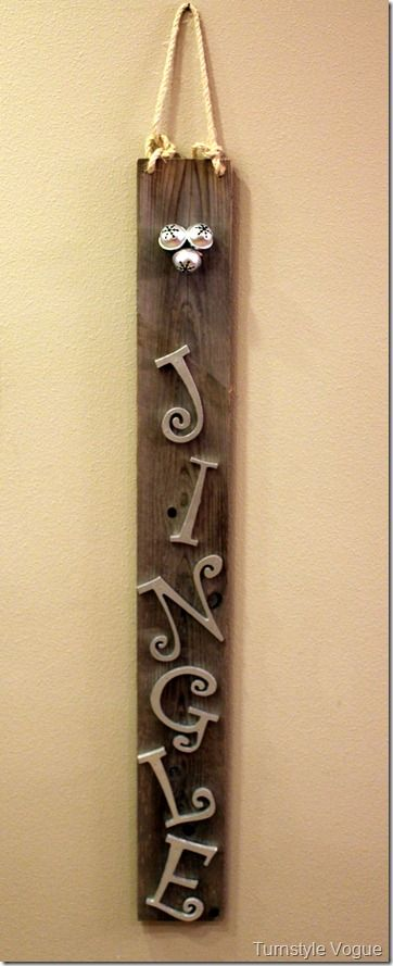 Architectural Salvage Jingle Christmas Sign