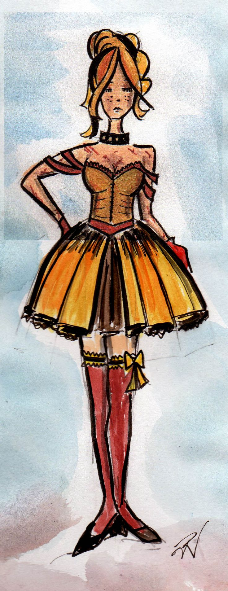 Demeter concept drawing by Trish Chamberlain for Blue Mountains Musical Society production of Cats