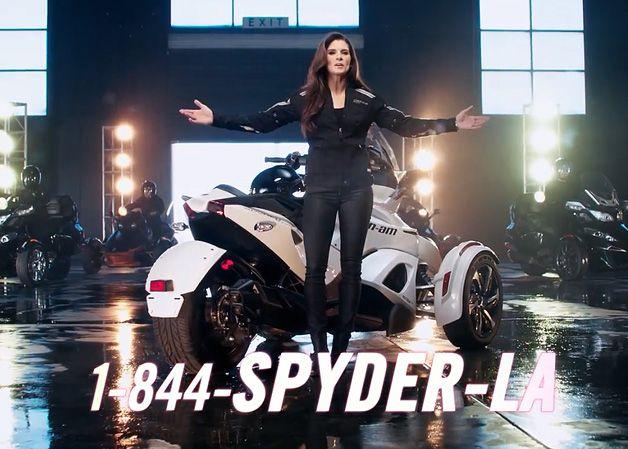 danica patrick can am spyder | Danica Patrick, Brooke Burke pitch Can-Am Spyder as ultimate paparazzi ...