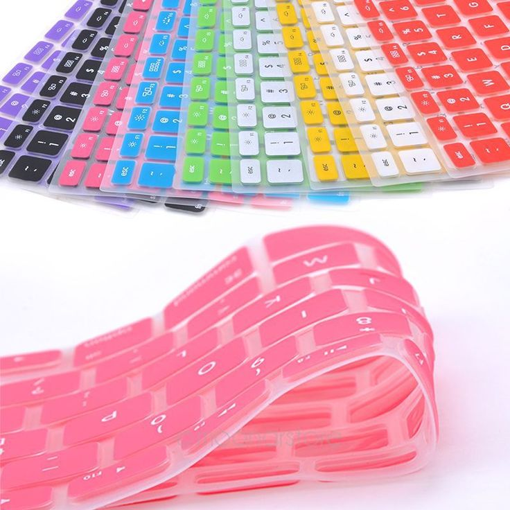 9 Candy Colors Silicone Keyboard Skin Cover For Apple Macbook Pro MAC 13 15 17 Air 13(China (Mainland))