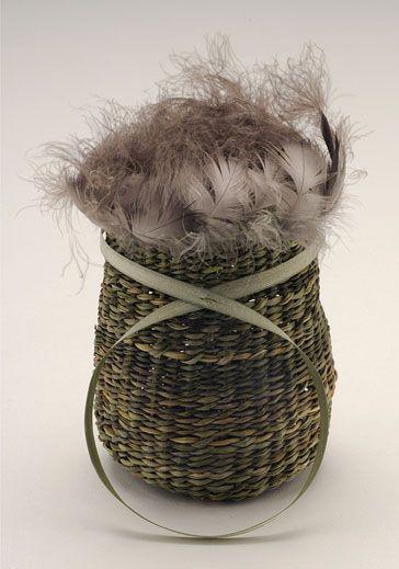 Tayenebe Exhibition : Vicki maikutena Matson-Green    Yolla... a tribute to the strength to survive in the face of adversity, 2008  West Launceston  white flag iris (Diplarrena moraea), yolla feathers