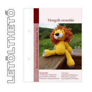 Letölthető leírás 16. Horgolt oroszlán