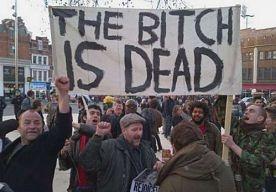 9-Apr-2013 8:33 - POLITIE BEËINDIGT STRAATFEEST TER VIERING DOOD THATCHER. De politie in Londen heeft moeten ingrijpen bij een straatfeest waar de dood van de Britse oud-premier Margaret Thatcher werd