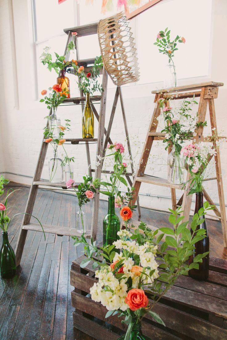 DIY Anthropologie inspired wedding decor ideas