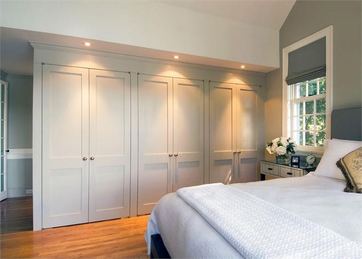 Built in closet wall great storage space home for How to design a master bedroom closet