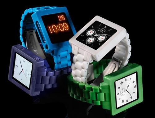 Ipod Nano watch.  I LOVE THIS.  Makes me want a NANO.