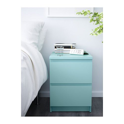 MALM Cómoda de 2 cajones - turquesa claro - IKEA #mint