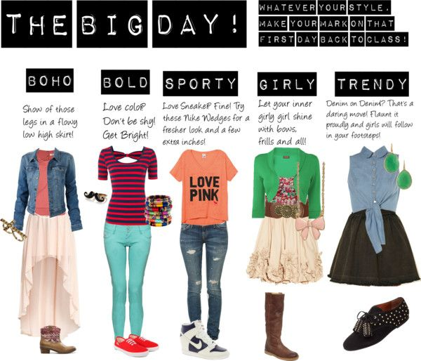 first day of school outfits hmm those clothes would be left in the closet after that first. Black Bedroom Furniture Sets. Home Design Ideas