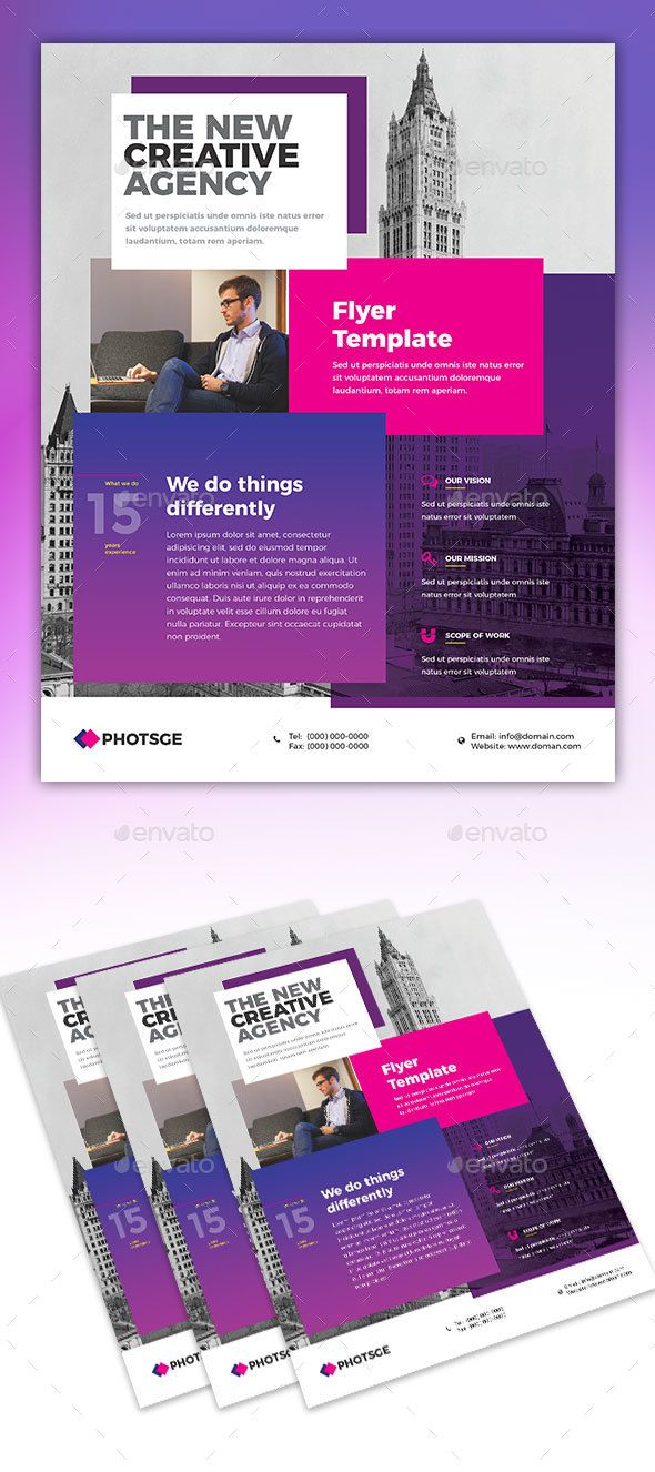 63 Best Creative Flyers Web Design Templates Images On Pinterest