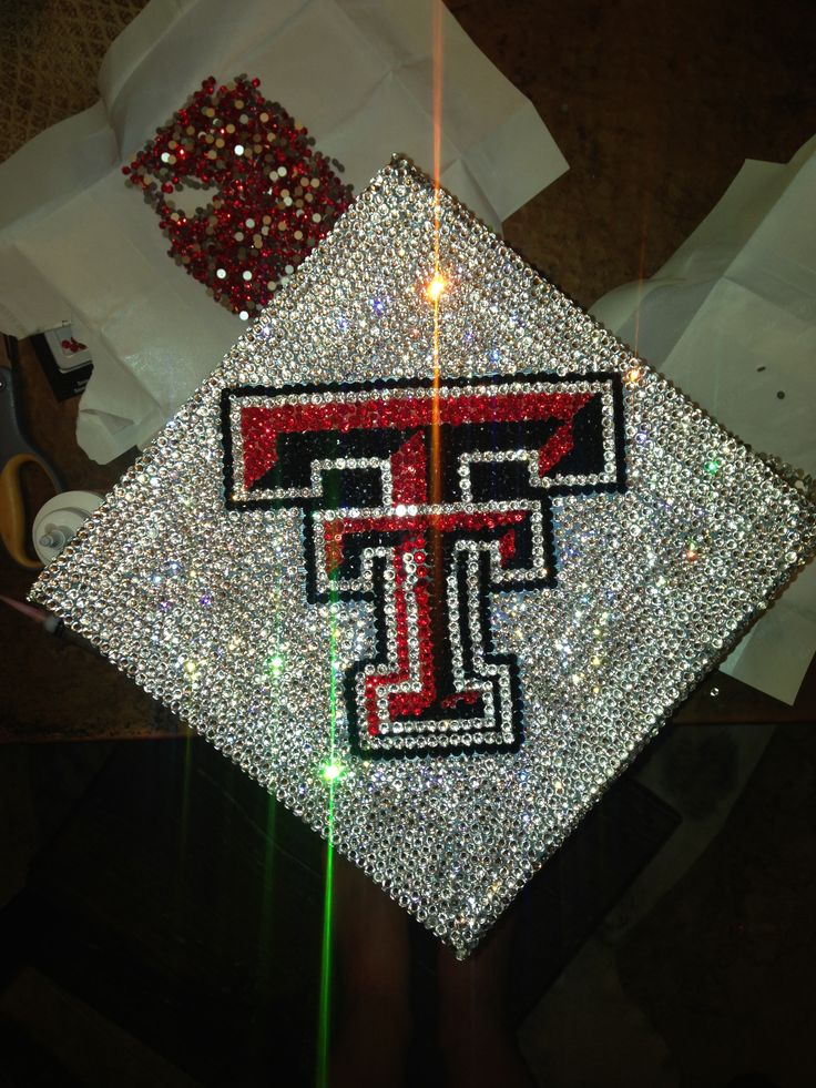 My Swarovski Crystal Texas Tech Grad Cap