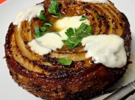 Smoked Bacon Wrapped French Vidalia Onion (low carb, keto) | Just a Pinch