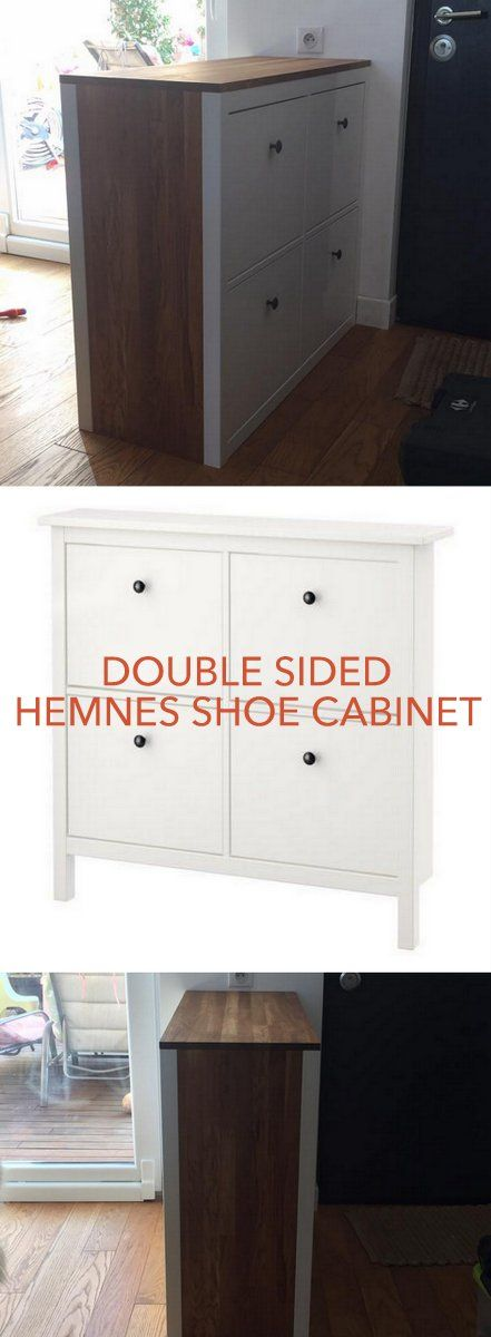 Double sided HEMNES shoe storage http://www.ikeahackers.net/2017/03/double-sided-hemnes-shoe-storage.html