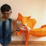 DIY Geometric Paper Animal Sculptures by Paperwolf