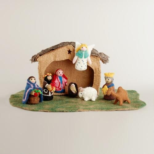 One of my favorite discoveries at WorldMarket.com: Nepal Felt Nativity Set