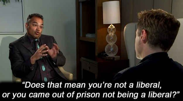A Channel 4 News interview with Robert Downey Jr went weird when Krishnan Guru-Murthy asked him about comments he made to the New York Times in 2008 about how his political views changed while he was in prison.