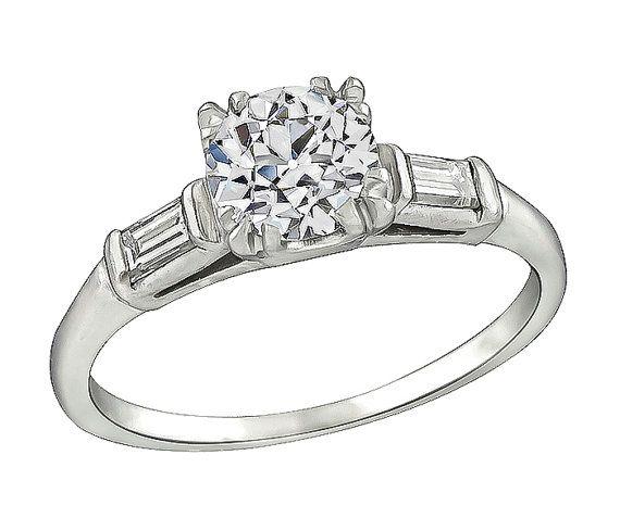 Vintage GIA Certified 1.03ct Diamond by NewYorkEstateJewelry