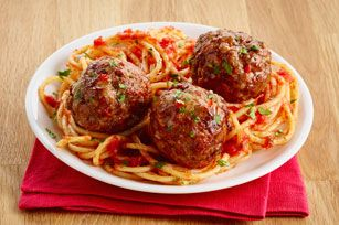 The Italian dressing both provides flavour and added moistness to this simple, yet versatile, meatball recipe.