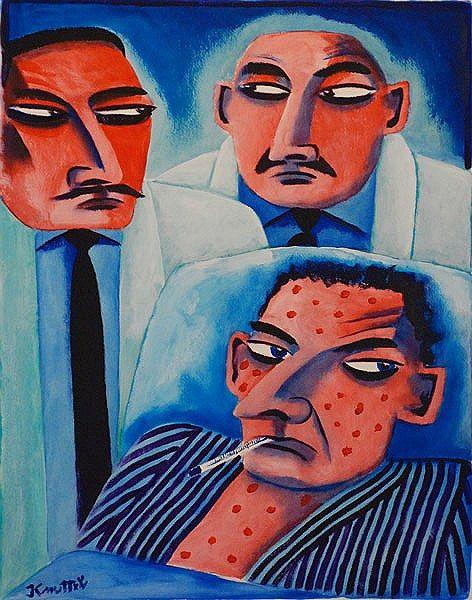 Graham Knuttel-Second Opinion #art #painting #GrahamKnuttel #doctor #DukeStreetGallery