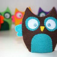 Felt Owl felt egg cosy warmers