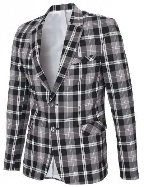 FlatSeven Plaid checked blazers (size small)