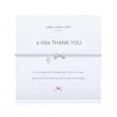 A Little Thank You for being My Bridesmaid - SILVER PLATED BRACELET