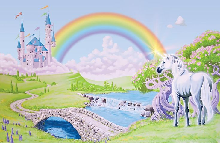 Wallpaper Murals | Shop Home :: Wallpaper Murals :: Unicorn Castle :: Princess Castle ...