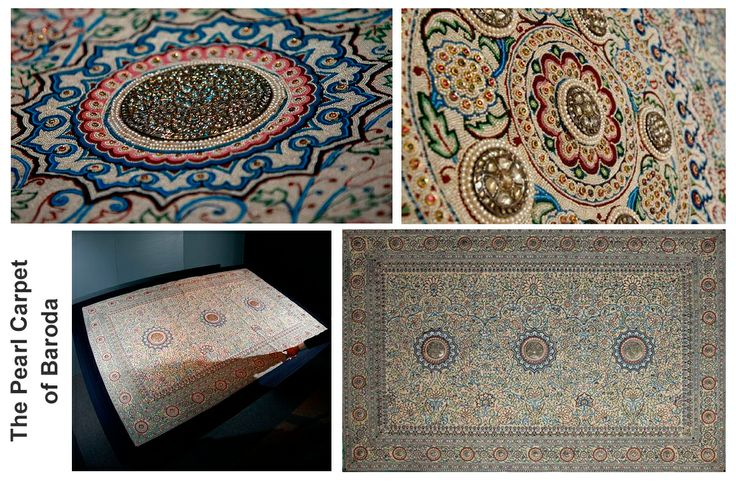 Il #tappeto più prezioso al mondo? Il Pearl Carpet of Baroda, venduto per 5,5 milioni di dollari nel 2009! Questo tappeto rappresenta un gioiello ricamato della misura di 173x264, i suoi medaglioni sono impreziositi da diamanti, smeraldi, rubini ed oro. Il tappeto è annodato a rilievo, con una base in seta impreziosita da fili d'oro. Certo questo tappeto solo poche persone al mondo possono comprarlo, ma se ami il lusso puoi comunque dare un'occhiata alla nostra collezione di tappeti…