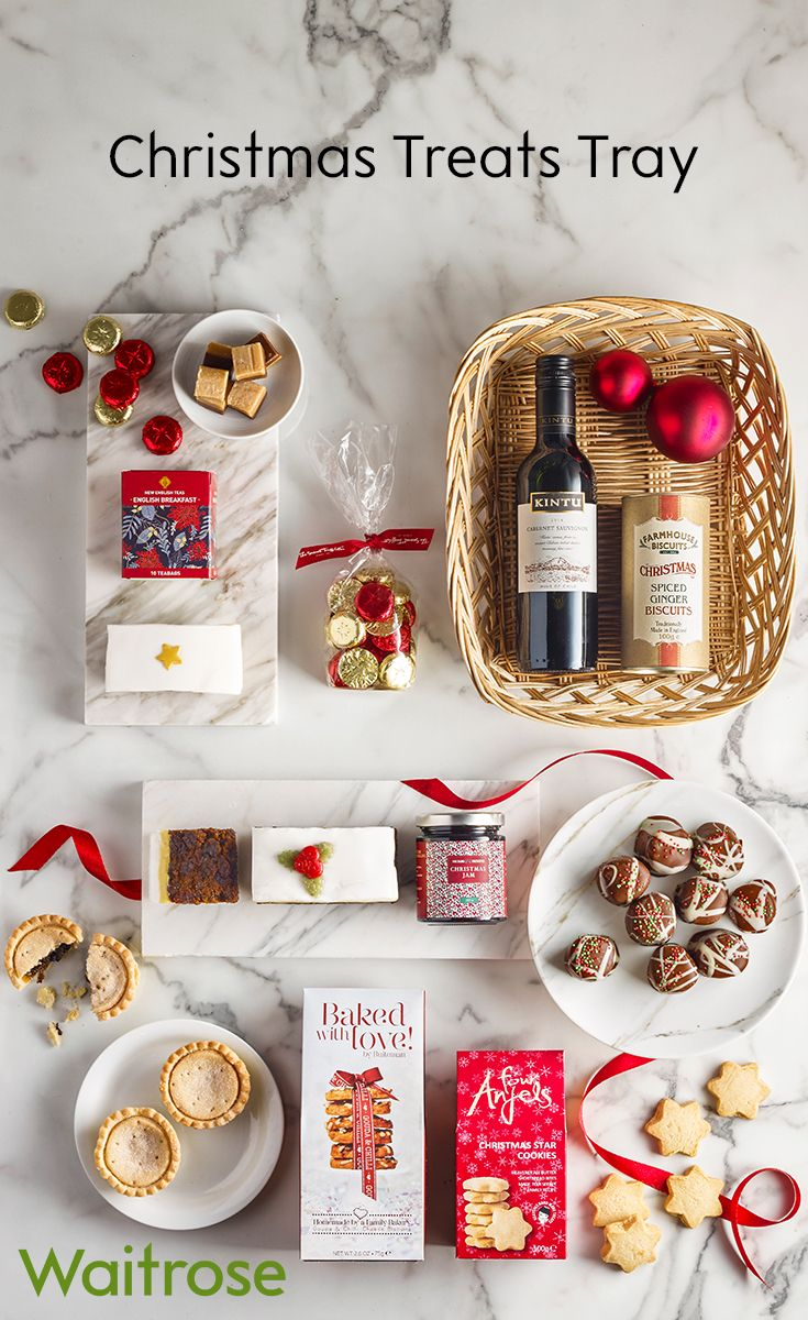This gorgeous treats tray is the perfect assortment of Christmas Day goodies. Filled with milk chocolates, fudge, mince pies and mulled winter punch this is a superb selection for those with a sweet tooth. For more delicious goodies, check out the Waitrose Gifts website.