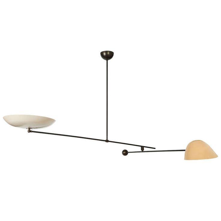 33 best oscar torlasco images on pinterest chandeliers academy rare oscar torlasco counter balance ceiling light for lumi mozeypictures Gallery