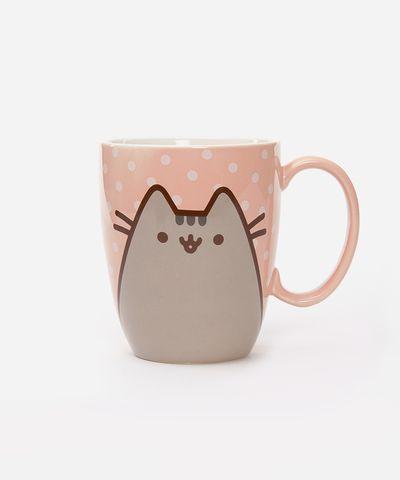 Pusheen the Cat Polka Dot mug - Hey Chickadee