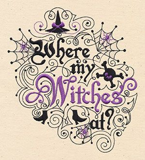 Where my Witches at | Welcome friends to a Halloween soiree with this sassy design!