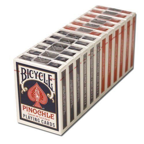 12 Blue Decks Bicycle Pinochle Cards Children, Kids, Game By Avner-toys