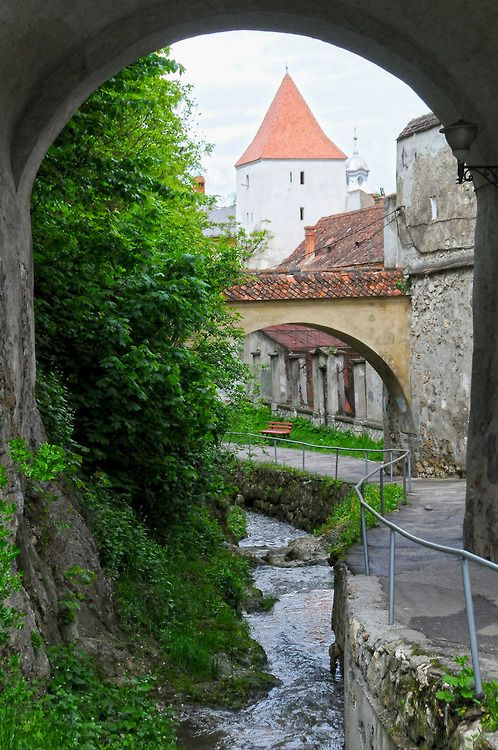 Brasov an authentic medieval city in the Carpathian mountains, Romania