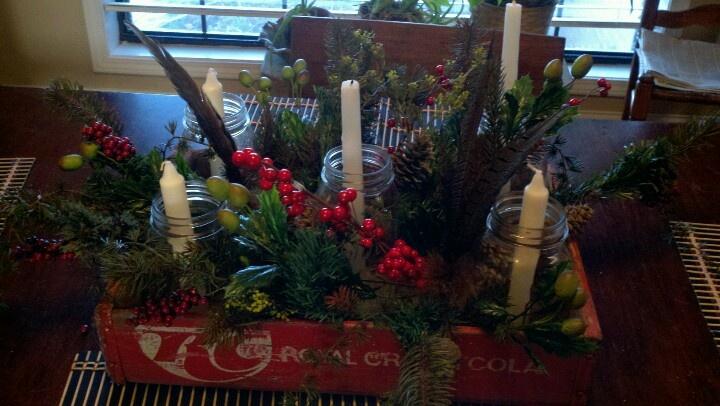 Mason jar christmas centerpiece | Miscellaneous | Pinterest
