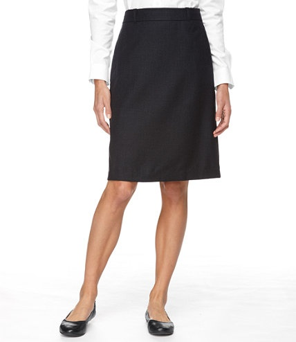 Straight wool skirt for the office