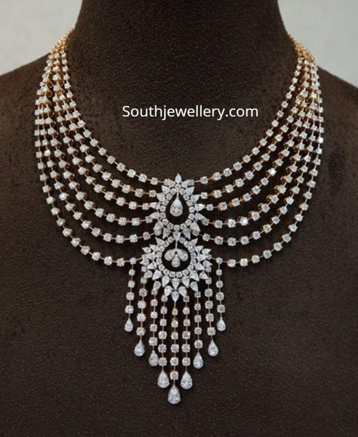 Layered diamond necklace by Ananth Diamonds photo