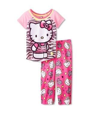 53% OFF Kid's Hello Kitty 2-Piece Pajama Set (Pink)