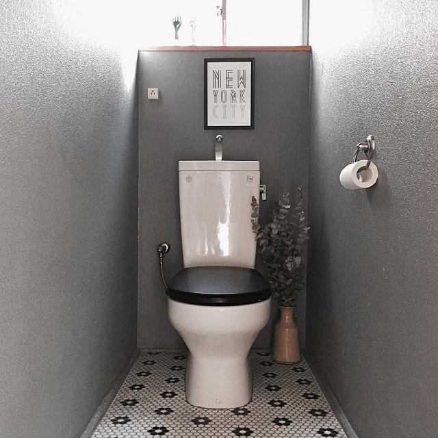 男性で、3LDKのAMERICAN HOUSE/FLAT HOUSE /平屋/toilet /トイレ…などについてのインテリア実例を紹介。「我が家のトイレ!ユーカリの香りがすごいです!」(この写真は 2016-01-10 10:45:59 に共有されました)