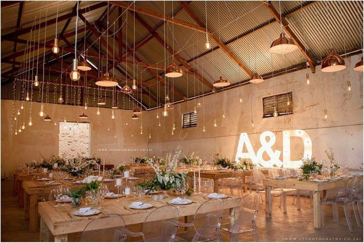 Our Edison Bulbs, Copper Lampshades, Raw Tables, Ghost Chairs & Marquee Letters