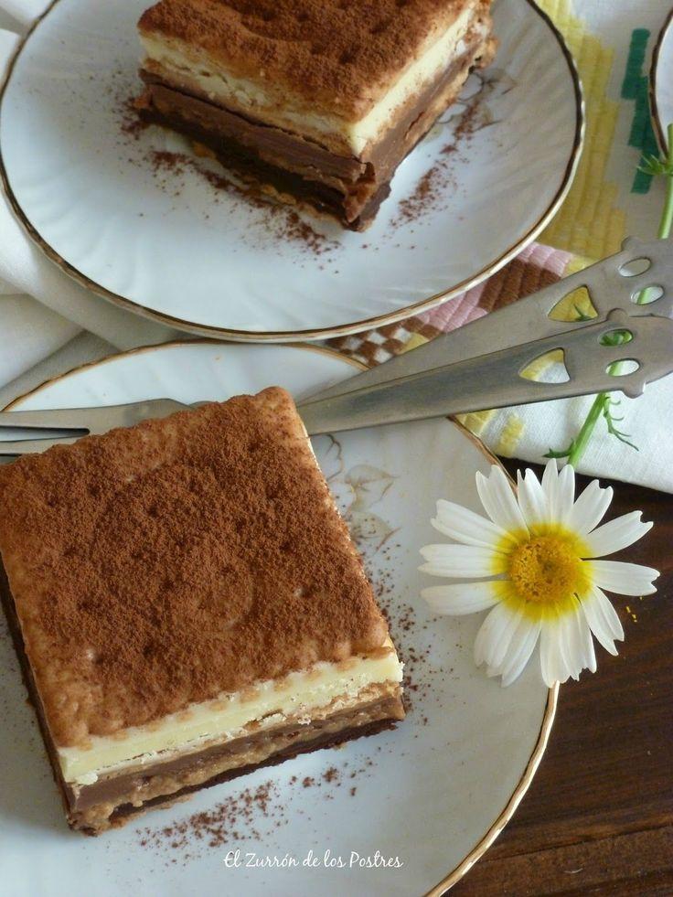 El Zurrón de los Postres: Tarta de Galletas a los Tres Chocolates