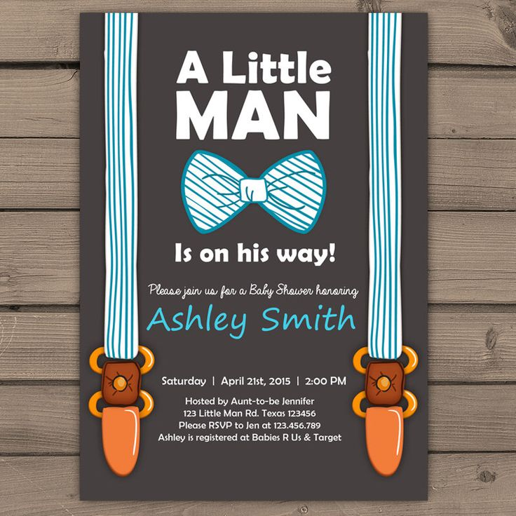 Little Man Baby Shower invite Baby Shower invitation Baby Boy on his way Bow Suspenders Tie Cute Stripes Blue Brown Digital Printable DIY by Anietillustration on Etsy https://www.etsy.com/listing/216533199/little-man-baby-shower-invite-baby