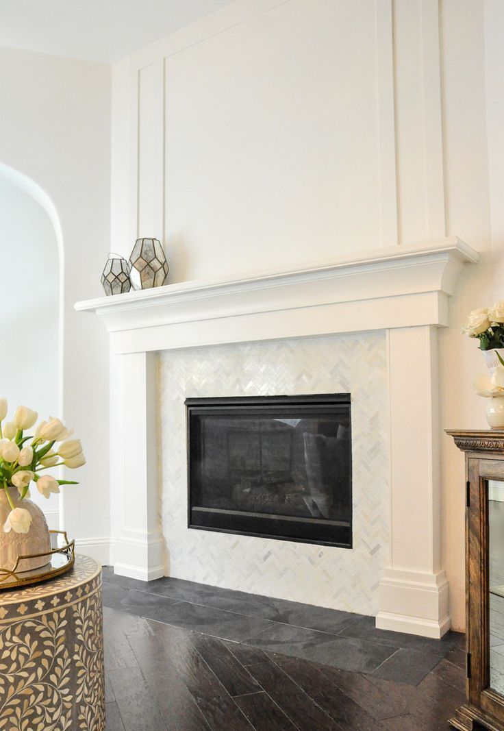 Projects And Plans Exciting Room Updates By In 2020 White Fireplace Surround Fireplace Surrounds Fireplace Tile