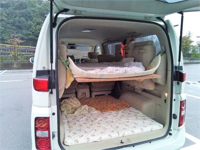 ミニバン車中泊diy 家族6人寝れる二段ベッドの作り方 車中泊 Com ミニバン ミニバンキャンプ ベッド の 作り方
