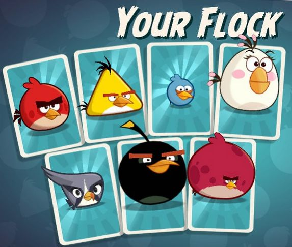 Angry birds under Pigstruction3 cards